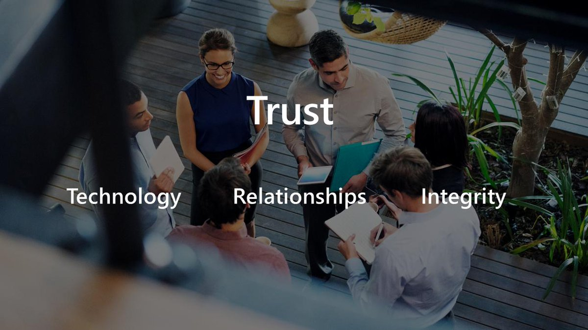 When @gavriels1 thinks about trust, there are three dimensions. #MSInspire