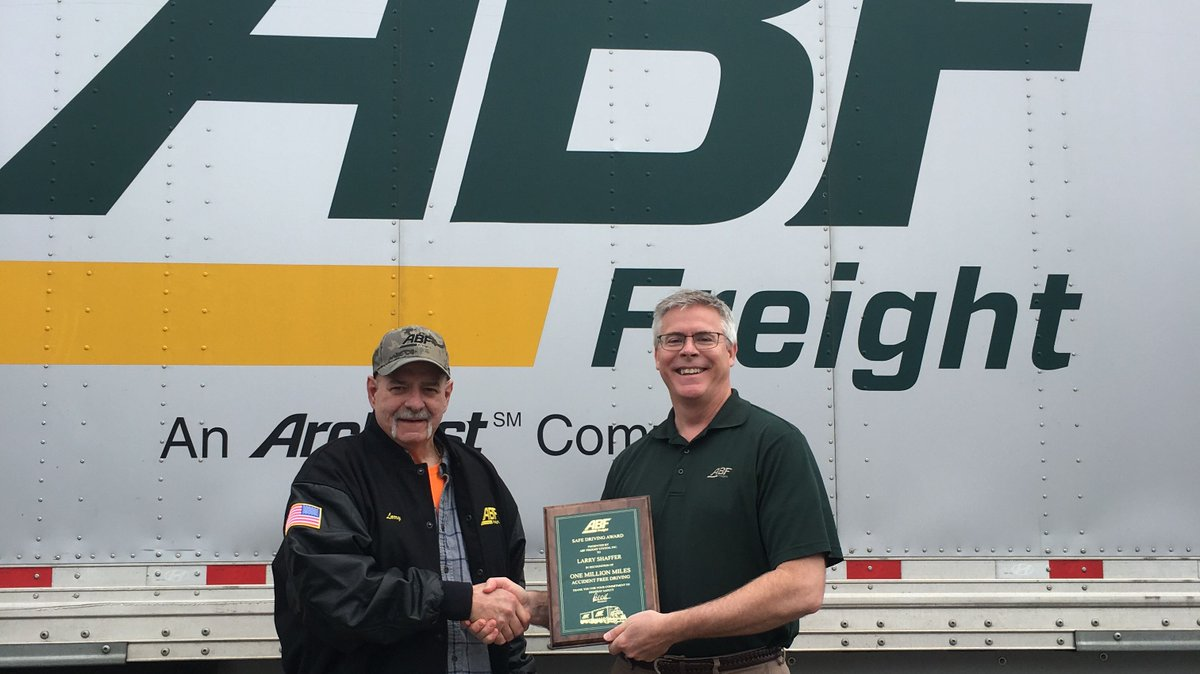 Congratulations to ABF Freight driver Larry Shaffer of North