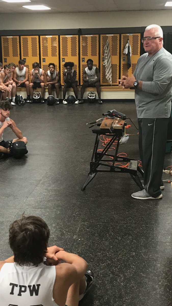 Coach Carter taught us how to sharpen a lawn mower blade today. #ManlyMonday