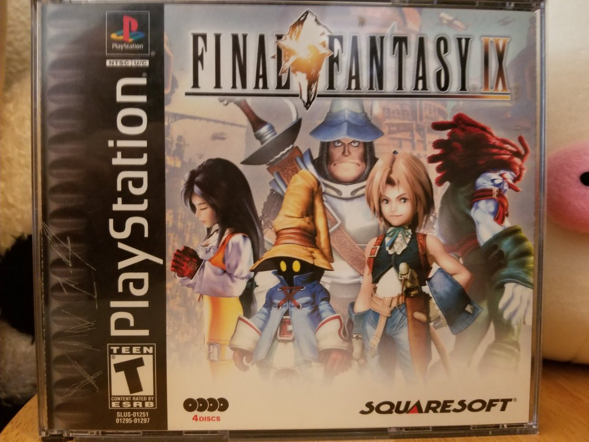 #PS1 #PSMonday  The well beloved ninth entry in the Final Fantasy series.  This one boasts unforgettable characters like Vivi, Quina Quen, Zidane and Freya. The story depicts a war between nations in a medieval setting. A plot filled with intrigue and twists.