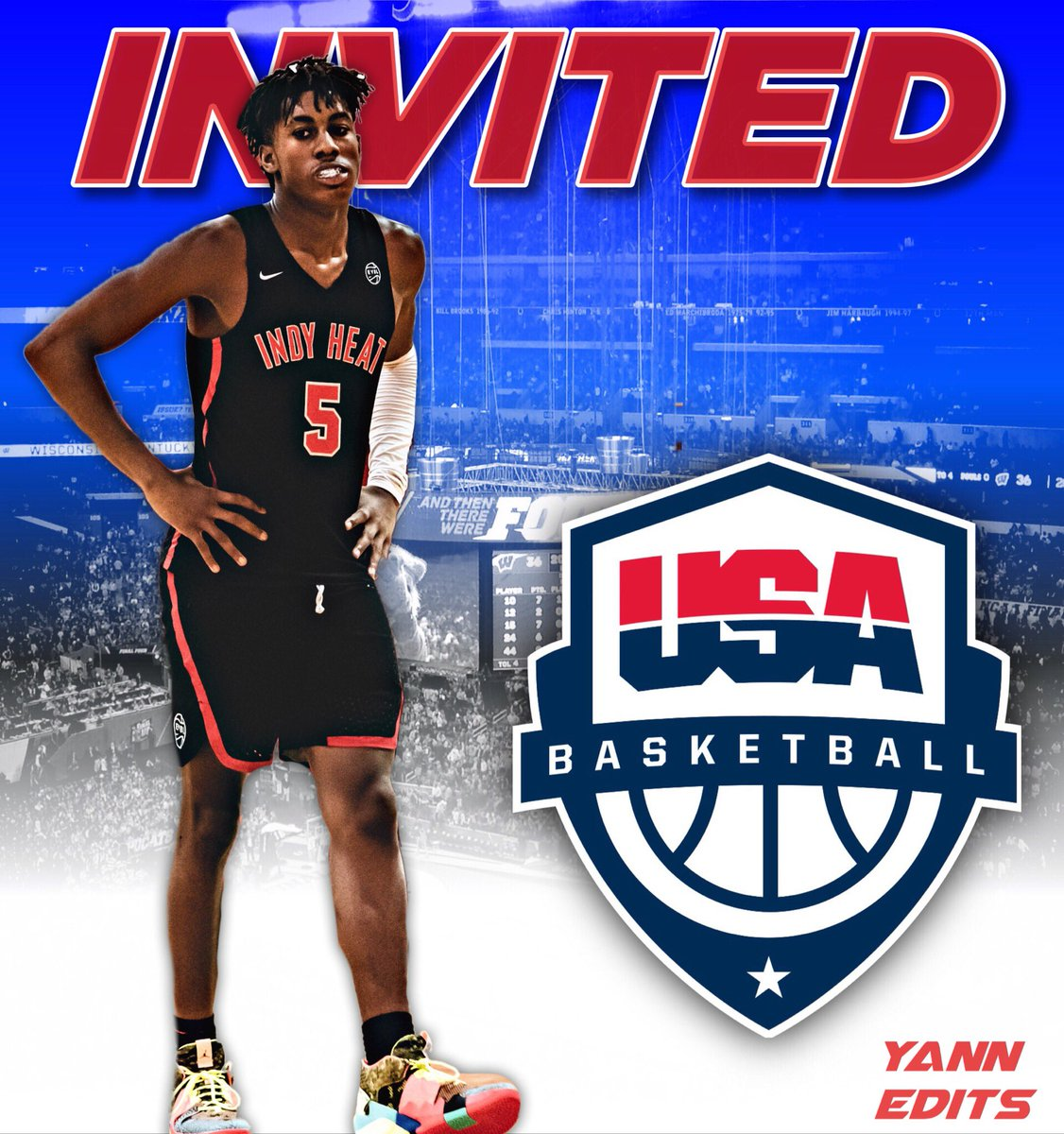 Dreamed of this, and can't wait to experience this opportunity. Blessed to be invited to USA Jr National team minicamp.