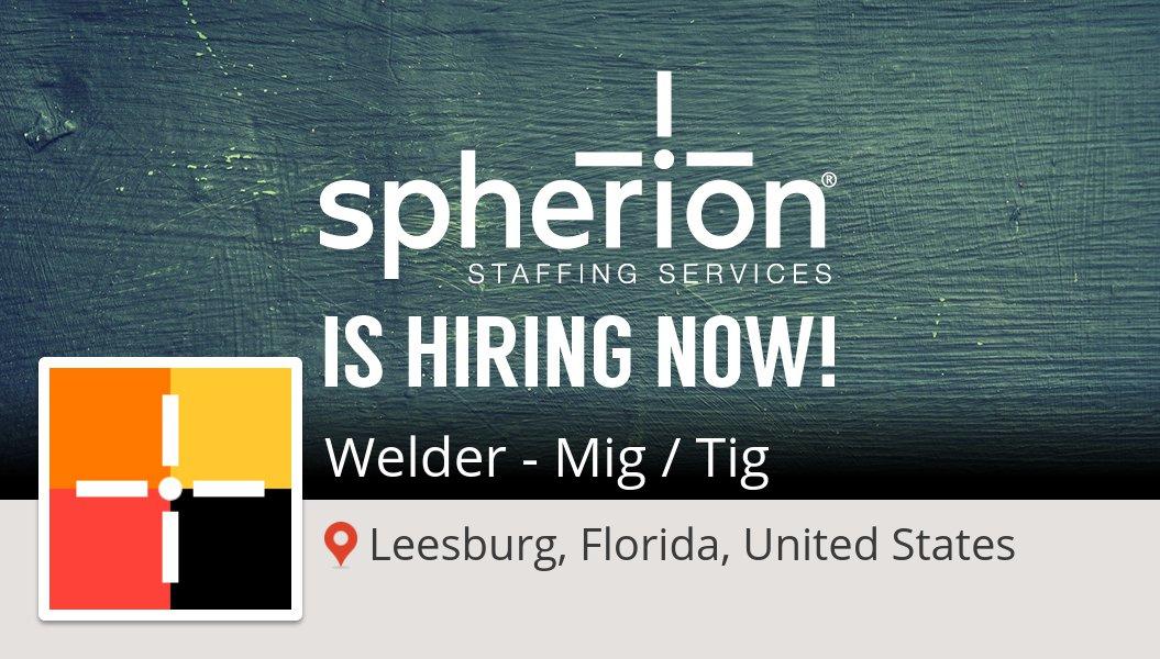 #SpherionRecruiting is hiring a #Welder - Mig / Tig in #Leesburg, apply now! #job https://t.co/WX1fUv3Wcj https://t.co/Lf7JS88XiU
