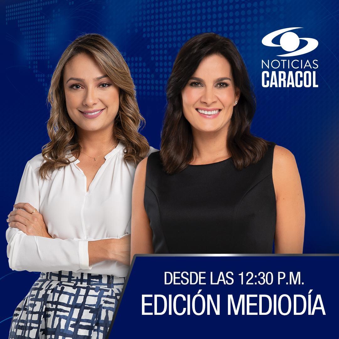 Conéctese con la emisión del mediodía de #NoticiasCaracol. Estamos en vivo junto a @MonicaJllo y @vanedelatorre >>> http://bit.ly/2LKE8t9
