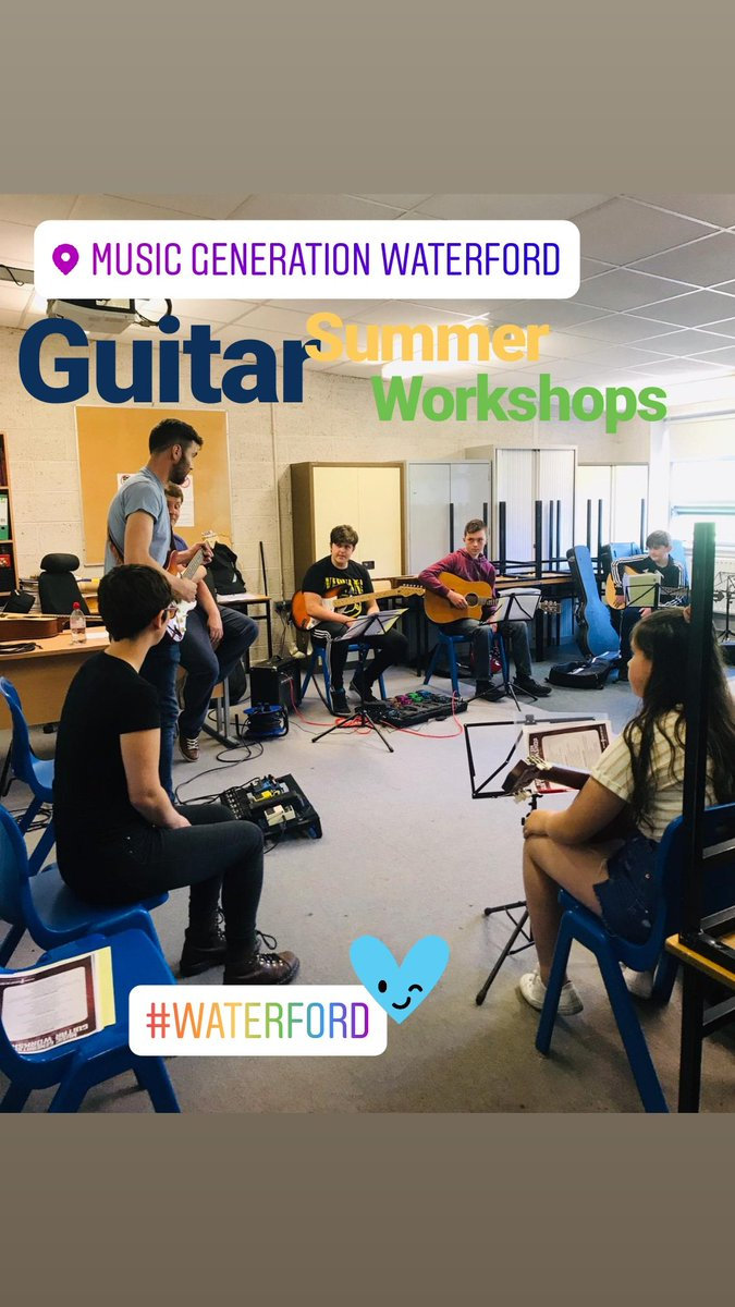 RT @MGWaterford: Great start to our Guitar Summer Workshops happening in @DungarvanColl this week with Jennifer, Colin and Darragh. #guitar #MusicMonday #Waterford #mgwaterford #music #skills @WWETBofficial @WaterfordCounci @mus_gen