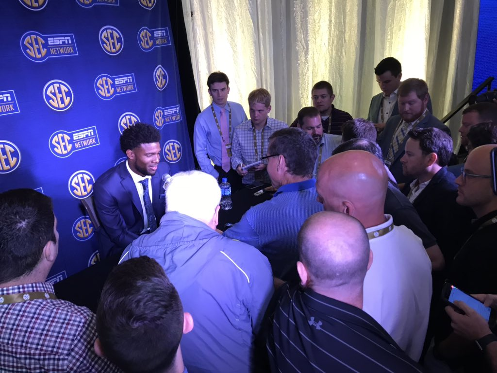 """New Missouri (and former Clemson) QB Kelly Bryant on last year's A&M game: """"That was the most people I've ever played in front of and one of the loudest stadiums...I saw what the SEC was all about."""" <br>http://pic.twitter.com/KypPLv1oJA"""