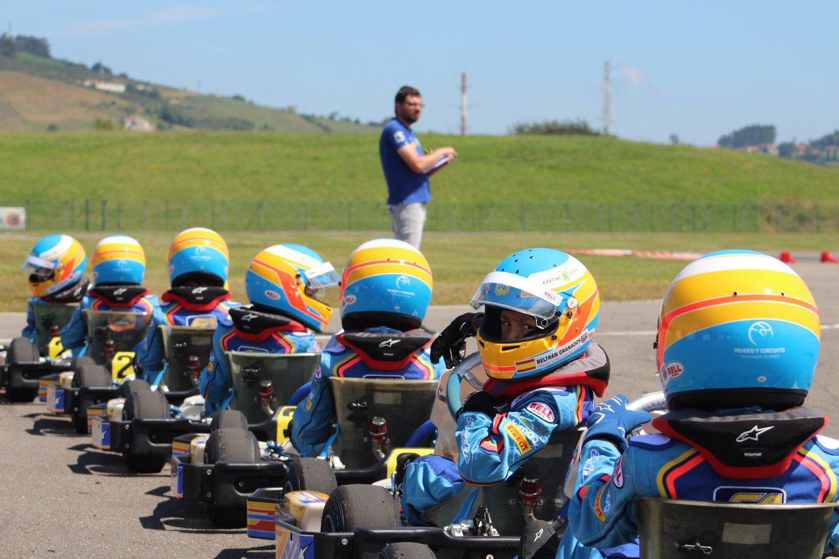Karting Campus modo ON👌 #karting #museoycircuitofernandoalonso #bell #alpinestars #pirelli #liberbank #talents
