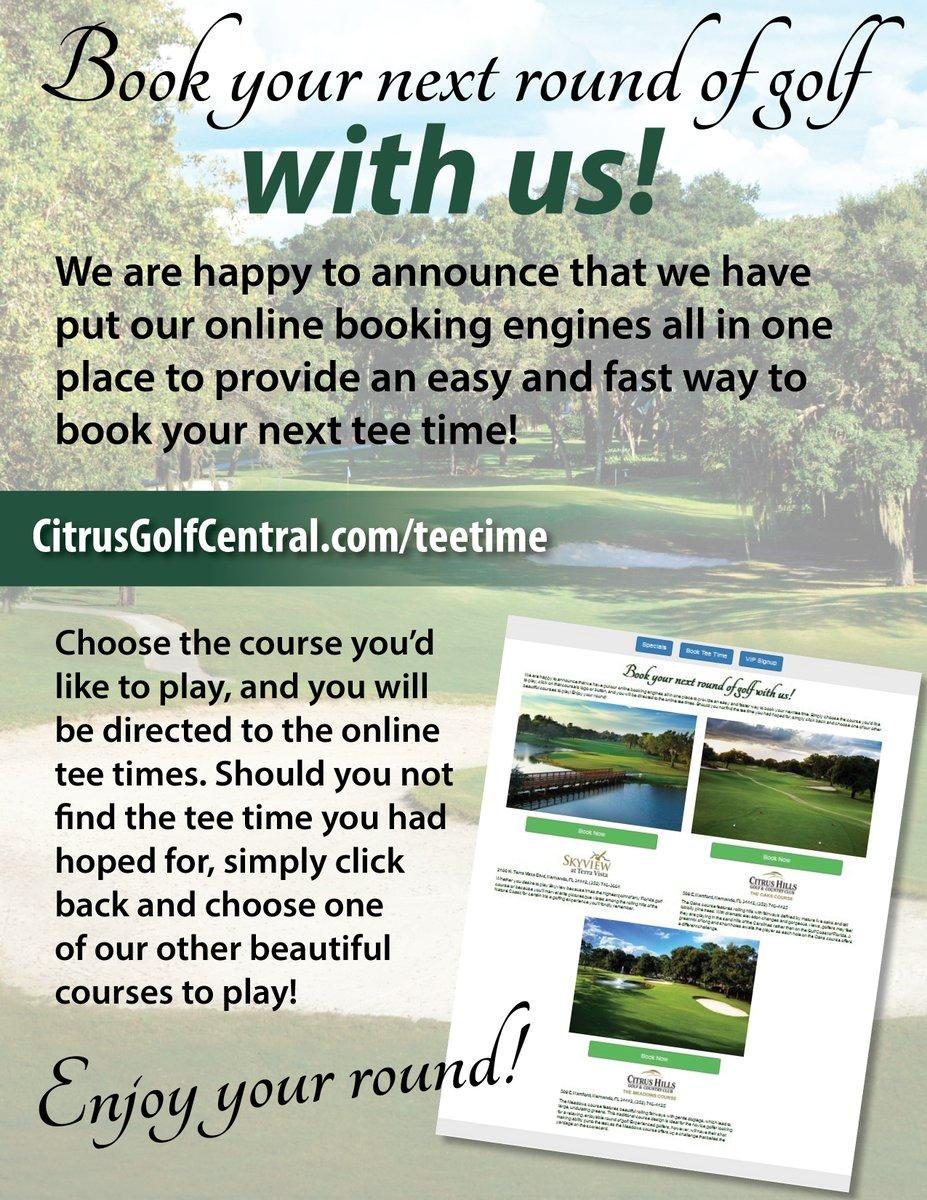 Book your next round of golf with us 24/7! #CHGCC #CitrusHillsFL #FLGolf #VOCH #PublicWelcome #GolfFun #TeeTimes #Bookonline
