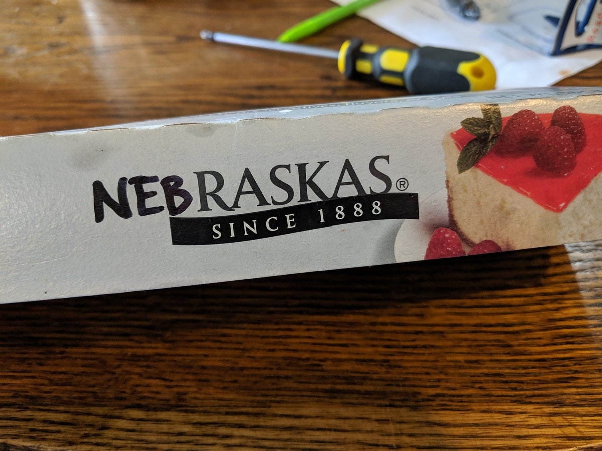 I 'fixed' this box of cream cheese in honor of my home state. #GoBigRed