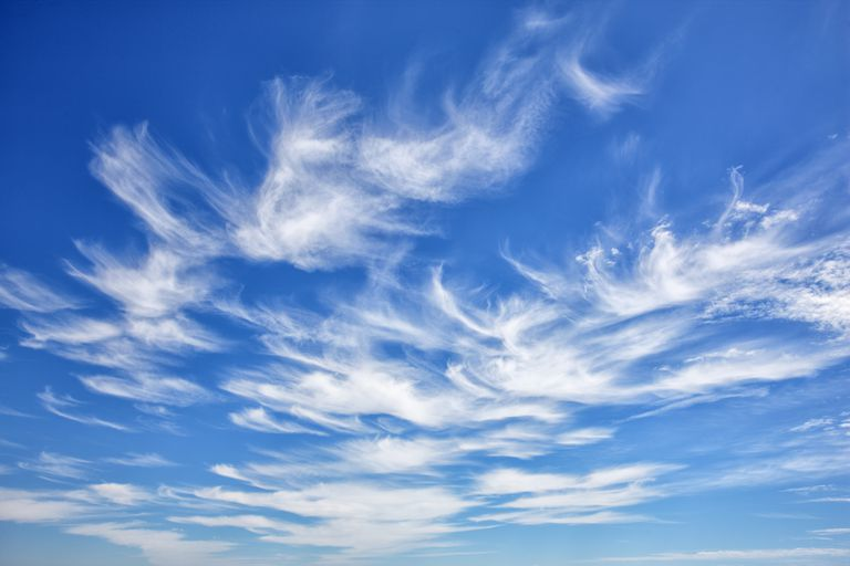 Science time:  On the way to work, today we present.....CIrrus   #cloud  #cirrus