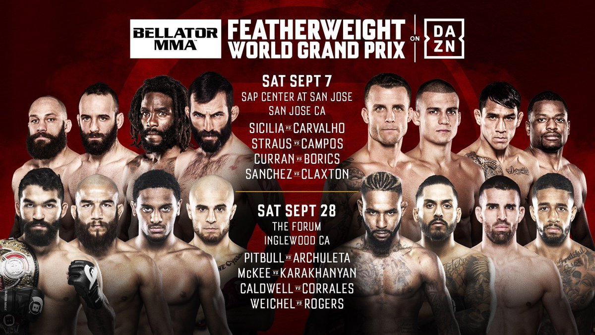 Here's your 16 man opening round of the Featherweight Grand Prix! #BellatorWGP