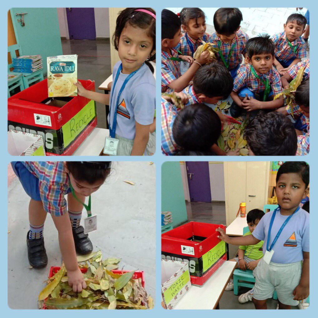 Waste segregation is the need of the hour! Ss at TFS learn how to segregate their waste. #TFSGoals #SDGoals #ReducedWaste #BetterPlanet #IncreasedPlanetLife #GreenGlobe #AcademicTwitter #ActOnClimate #BeatPlasticPollution