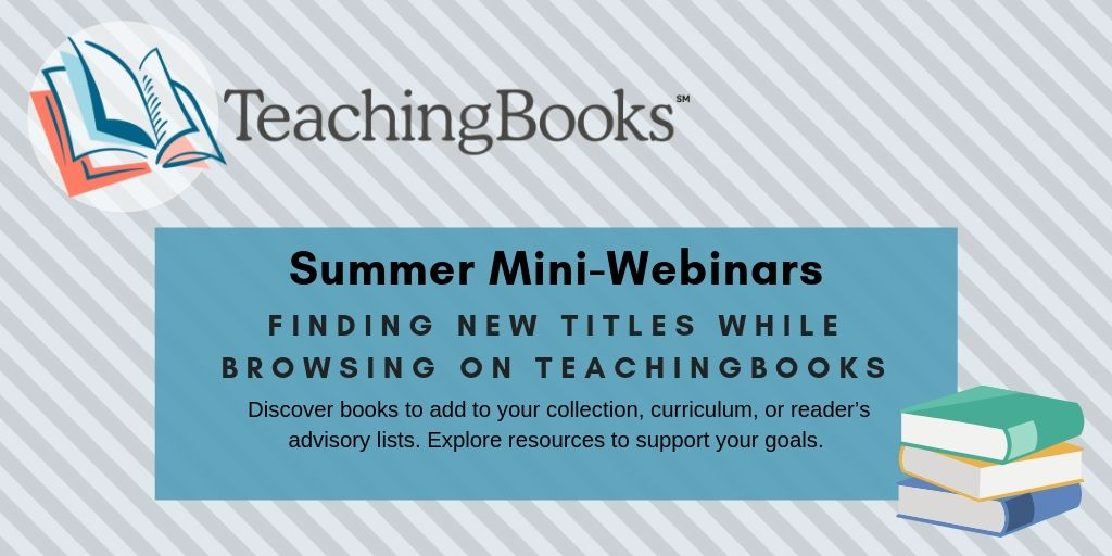 test Twitter Media - Join us tomorrow to learn how to browse TeachingBooks!  This 15-minute webinar will show you how to properly Browse to discover books to add to your collection, curriculum, or reader's advisory lists and find resources to support your goals!   Register: https://t.co/LhuCO8lwsB https://t.co/oK0GrqynjL