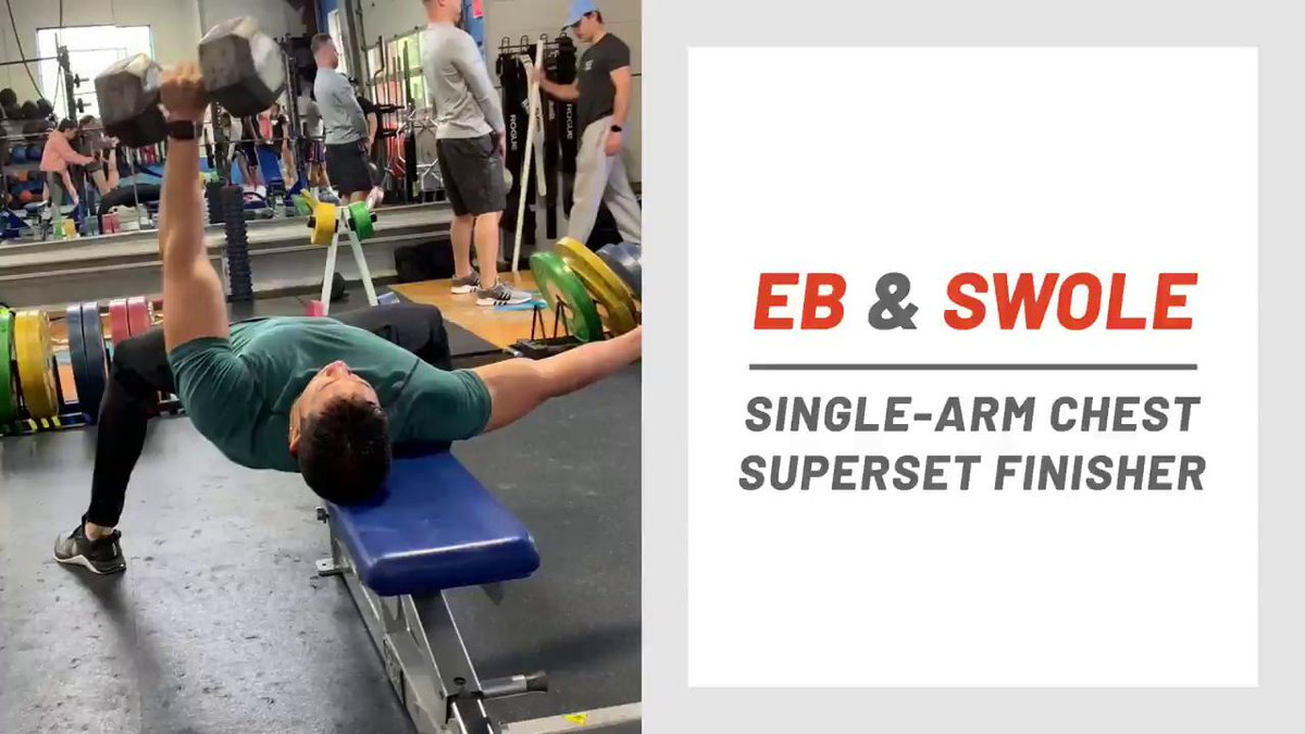 Image for the Tweet beginning: Eb & Swole: Single-Arm Chest