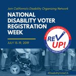 Image for the Tweet beginning: NATIONAL DISABILITY VOTER REGISTRATION WEEK!