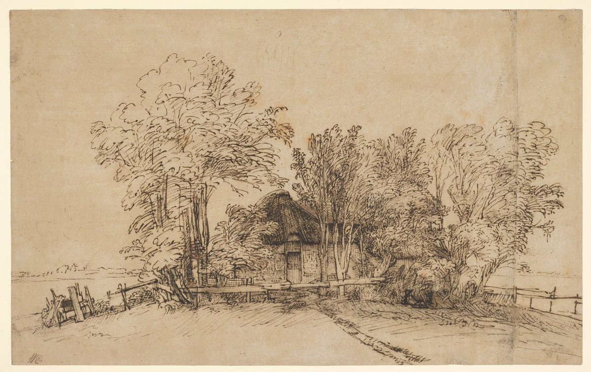 """Happy birthday #Rembrandt van Rijn! Celebrate with a stop at Gallery 690 to see a selection of drawings and prints by the Dutch artist—or hop over to Gallery 964 to see his self-portrait and more in """"In Praise of Painting: Dutch Masterpieces at The Met."""" #MetDutchMasterpieces"""