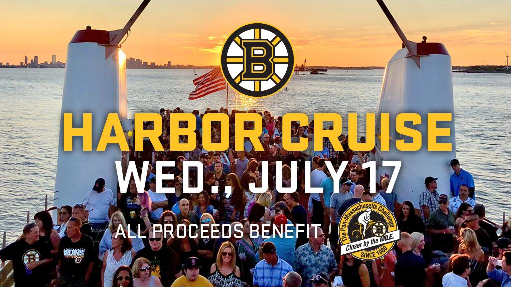Time is running out to get your tickets to the #NHLBruins Foundation Harbor Cruise this Wednesday! All proceeds from the event benefit the Bruins Foundation's @PanMass Challenge Team.   Get your tickets now: https://bbru.in/2lpYICJ