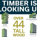 Image for the Tweet beginning: Over 44 #tallwood buildings are