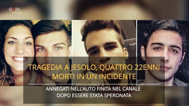 Tragedia a Jesolo, quattro 22enni morti in un inci...