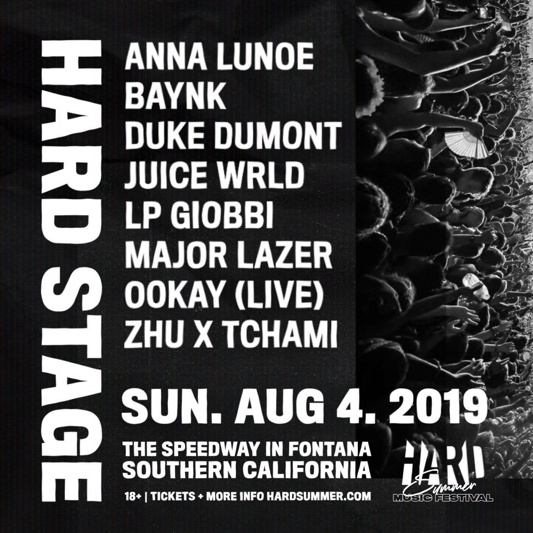 2019 Hard Summer lineup