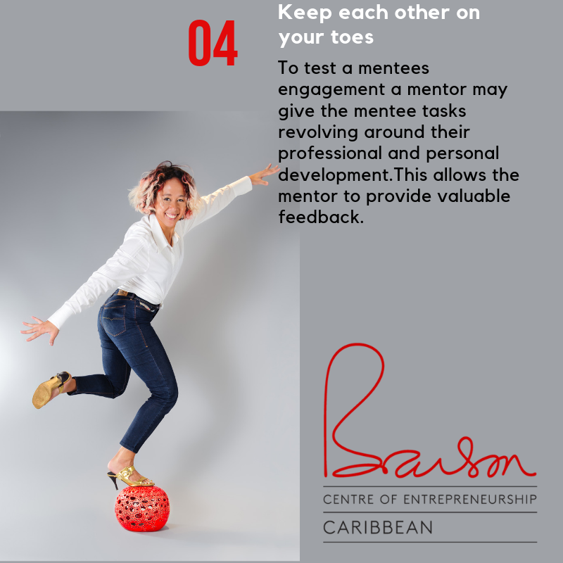 #Mentors may test if a #mentee is engaged and receptive to a mentors tutelage by periodically giving them tasks that revolve around their personal and professional development. This allows #mentors to offer valuable feedback.  @ncbja   #BransonCentre #Jamaica #ScaleUp