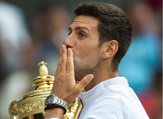 """""""When the crowd is chanting 'Roger' I hear 'Novak'."""" Novak Djokovic says his epic #Wimbledon final victory over Roger Federer was his most """"mentally demanding"""" match ever.Here's why ➡https://bbc.in/2JGqwvl #bbctennis"""