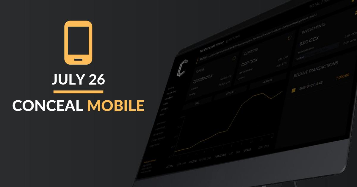 Conceal (CCX) - Conceal Mobile Beta - Cryptocurrency Calendar