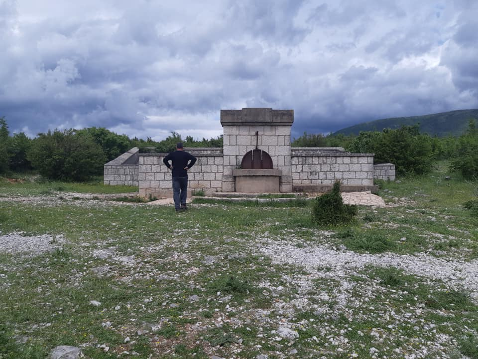 #Hiking through the #wilderness of the Bosnian #mountains above the town Stolac, we same across an old #rainwater collector, built in 1934 - very #impressive...  #adventure #nature #architecture  #outdoors  #hikingadventures #travelinspires #photography