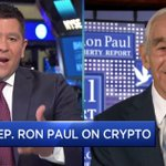Image for the Tweet beginning: Ron Paul: Cryptocurrencies Are A