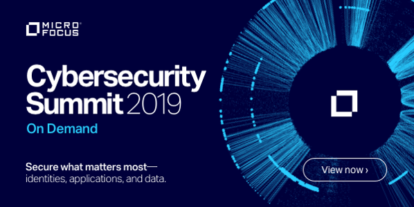 View the #MicroFocusCyberSummit sessions on Demand. View by key @MicroFocusSec areas including #AppSec, breach defense, #IAM, #Endpoint, #DataSec #SecOps, #InfoGov & #DataPrivacy.  | #SecurityandRisk http://bit.ly/2YP0nAJ  #TeamMicroFocus
