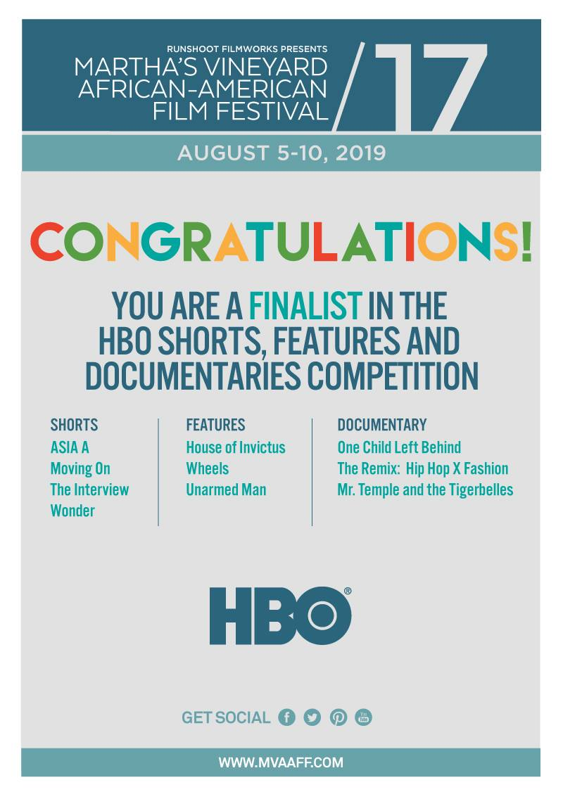 What's more exciting than #AmazonPrimeDay? Being selected as a finalist for @HBO's shorts competition at @mvfilmfestival! Thanks #MVAAFF #HBO for this amazing opportunity. The @TheInterview11 team & @dog_melo is honored to be a part of #SummersFinestFilmFestival #blackfilmmakers