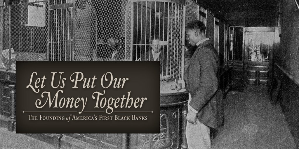 Our new book, Let Us Put Our Money Together: The Founding of America's First Black Banks, is the latest addition in the #KCFed's series of historical books on banking. Get your free copy at http://bit.ly/31MWhe7 .