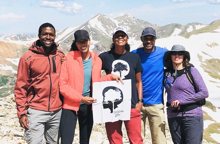Huge Congratulations to @wldsplendidlife & @OutdoorAfro for their First 13er of the season is in the books at Square Top Mountain. Talk about Motivation!!! @REI @coloradoutdoors @caahealth #MondayMotivation #13er #hikingadventures #Hiking #BlackGirlsHike #OptOutside