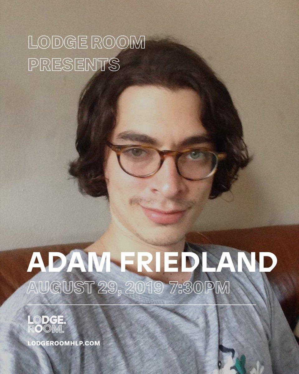 LA - August 29 tix: eventbrite.com/e/adam-friedla…