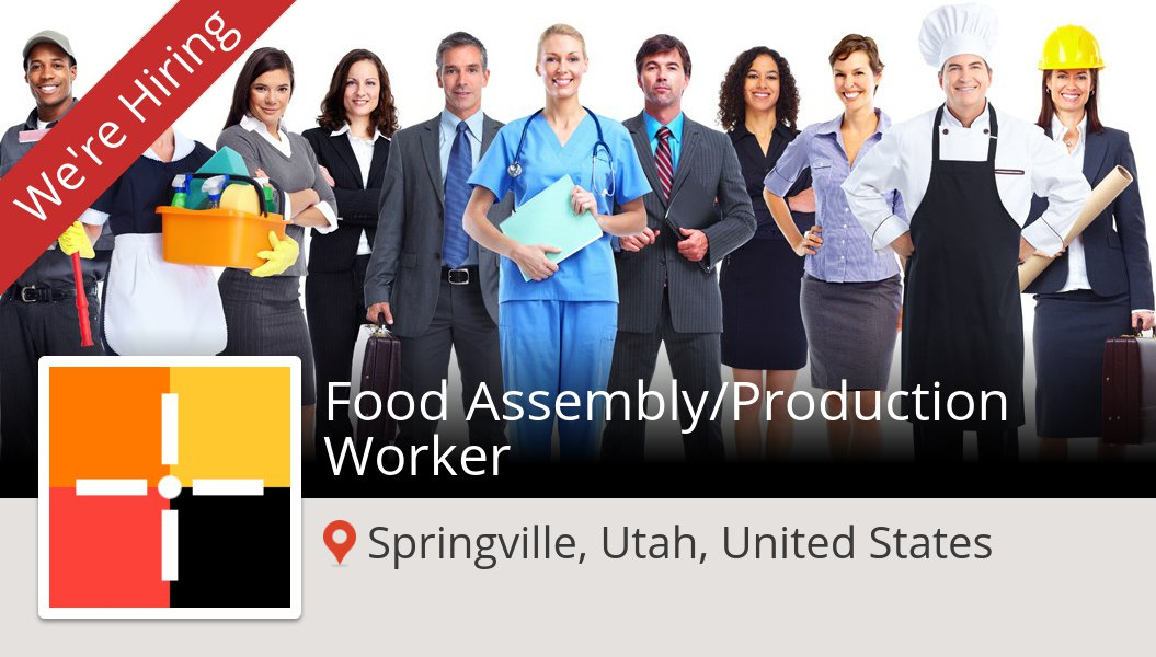 New #job opening at #Spherion in #Springville! Food Assembly/#Production #Worker https://t.co/nUCy1k8S2z https://t.co/JZ74yscFIp