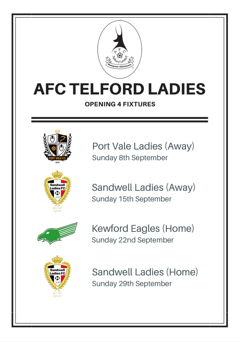 Our opening 4 league fixtures #FocusBelieveAchieve<br>http://pic.twitter.com/48SwgfREW6