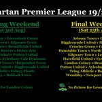 Image for the Tweet beginning: The Spartan Premier League fixtures
