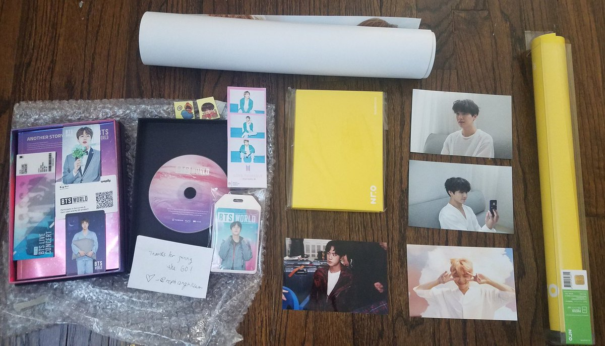 thank you @rephangirl4ever for the bts world album as well as my exibition merch and freebies! Will for sure join your GOs again! Shes legit!!!💜tysm😊💜