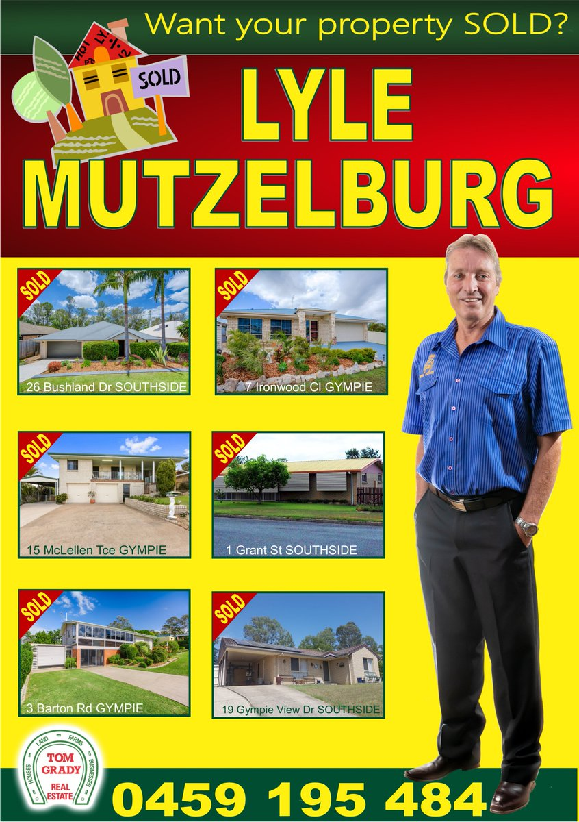 Lyle Mutzelburg is taking Gympie by storm!!  Looking to sell?  Call Lyle on 0459 195 484!! https://t.co/GzQTgMWm60