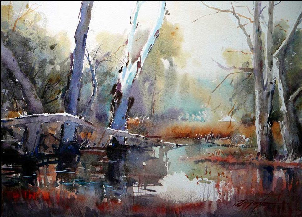 Marshland in the Mist ~ Watercolour, #Artist David Taylor.  Fine #art tips and a fantastic watercolour demo with David Taylor on Colour in Your Life!   https://www. youtube.com/watch?v=P_Ayz- yjY90   …   #ArtLovers<br>http://pic.twitter.com/mY9cDByqZ3