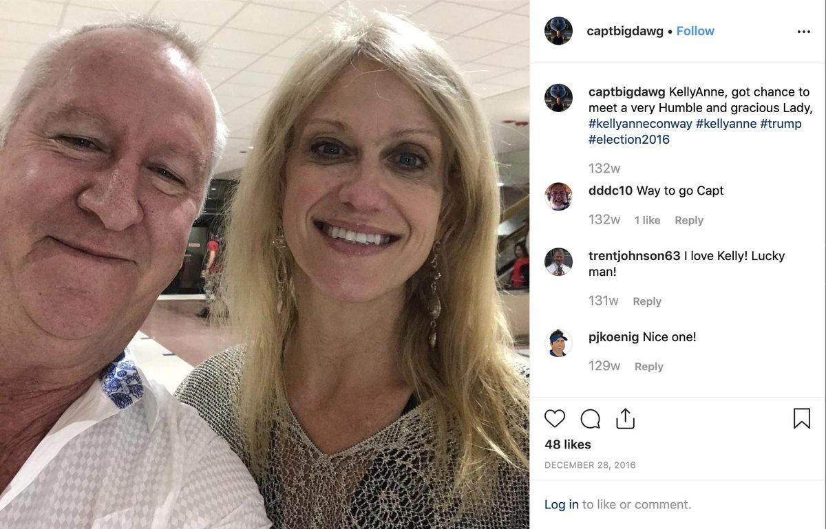 Ohai, It's Larry Visoski, Jeffrey Epstein's chief pilot, hanging out with @KellyannePolls just before NYE 2016.  Weird, huh? https://www.instagram.com/p/BOkJSYUjMNA/
