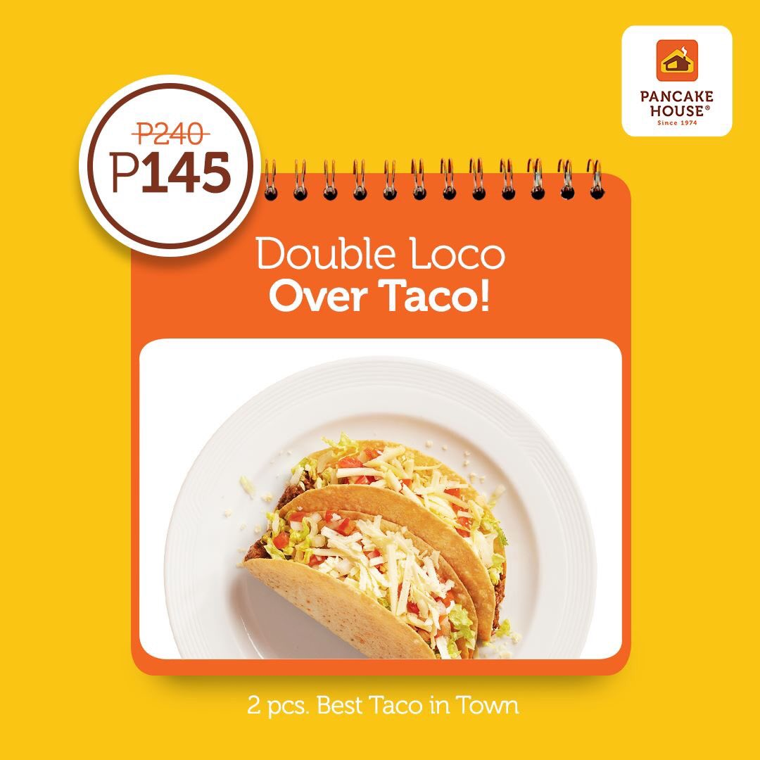 """Taco lovers, unite! Get two servings of the Best Taco in Town for only P145. Our little way of making your """"chooseday"""" a feel-good day. #ChooseToFeelGood https://t.co/0xywHWZki2"""