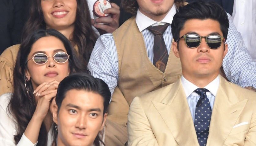 them: gO BaCK whERe YoU CamE FRom me, as played by Deepika Padukone, Henry Golding, and Choi Siwon at #WimbledonFinal in London: <br>http://pic.twitter.com/qLgh8ZzjA4