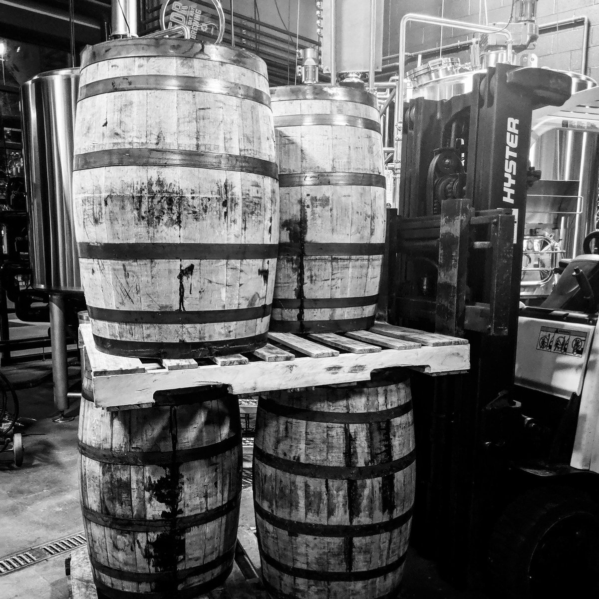 Today's a good day! @HotelTangoIndy Rum & Whiskey barrels are in. Stay tuned to find out what we're filling these with. #DrinkLocal #DrinkIN