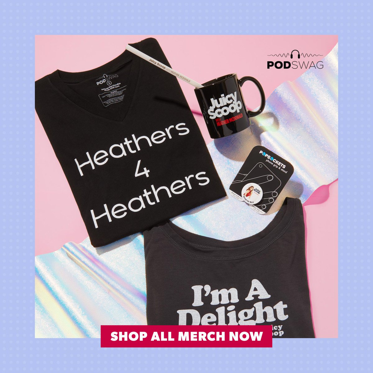 Here's the scoop. You can get new Juicy Scoop with @HeatherMcDonald merch over on @Podswag: podswag.com/collections/ju…