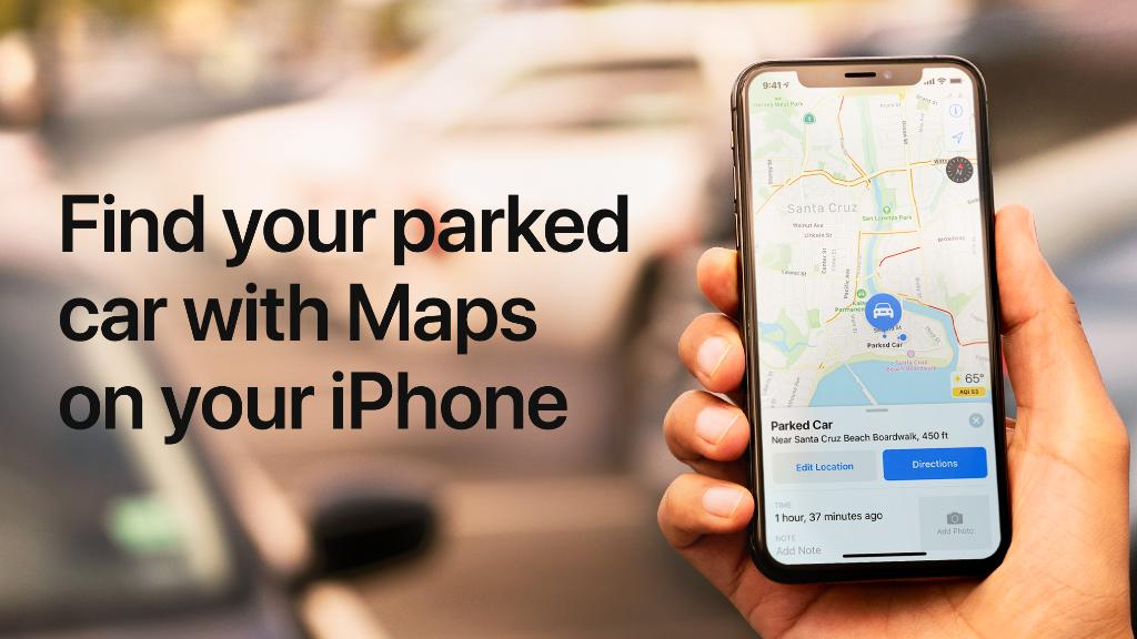 First rule of road trips: Don't lose the car. 😳  Maps marks the location of your car when you disconnect your iPhone from a Bluetooth or CarPlay stereo. Whew. Learn more: https://apple.co/30FBIzf