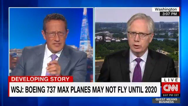 """A @Boeing #737MAX plane ordered by @Ryanair has been photographed with a new name -- """"737-8200"""" -- according to a report by the Guardian. @tomforemancnn gives his take on what could be done to restore faith in the model. #Boeing #AVGeek $BA"""