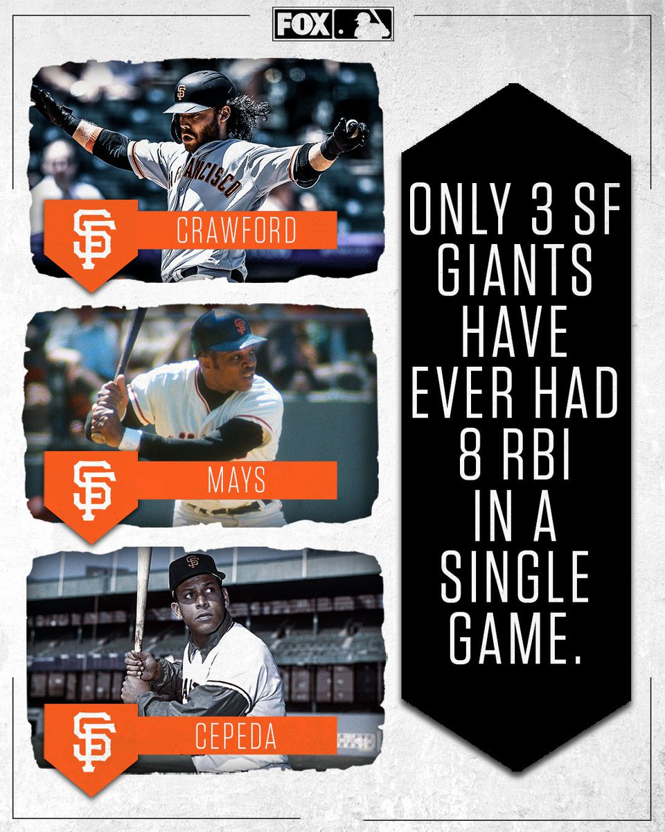 Brandon Crawford joined some legendary @SFGiants company after having 8 RBI in a game today 👀
