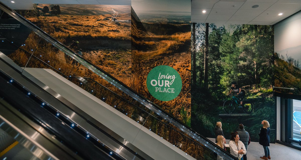Check out our latest themed air bridge! If you're arriving or departing from Gate 15 you'll now be immersed in a Christchurch Adventure Park experience right here at the airport. #ChristchurchAdventurePark #zipline #mountainbiking #explorechristchurch #ChristchurchNZ #adventure