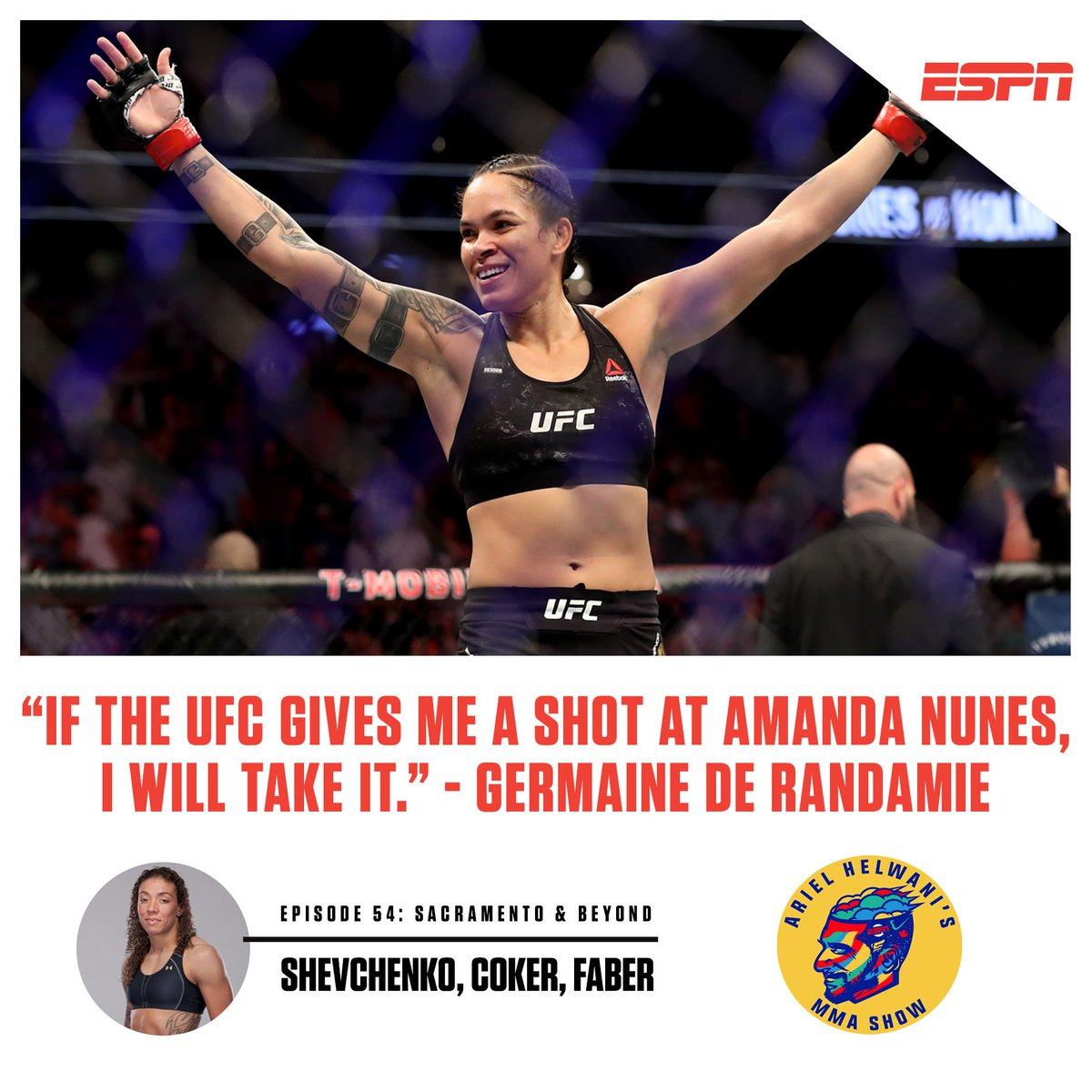 Espn Podcasts On Twitter A Jam Packed Show Following A Jam Packed Weekend In Mma Arielhelwani Breaks Down The Sacramento Event With His Guests Plus The Weekly Speculation On Upcoming Fights Continues Listen Https T Co W7xmsgfg1m