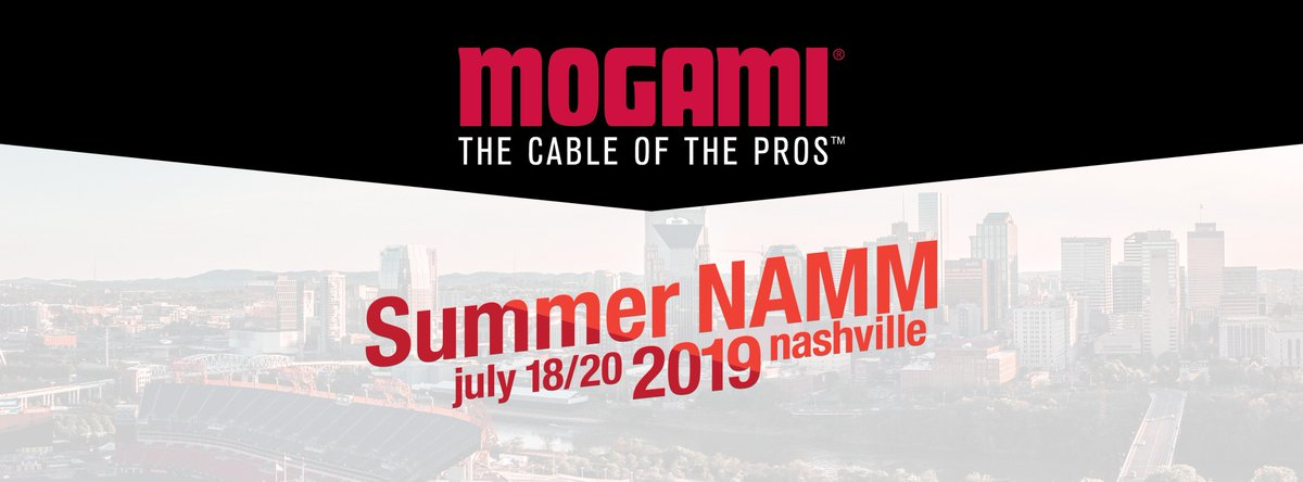 Come on by booth 302 at the Summer @NAMMShow July 18-20 in Nashville, TN to test out your favorite #MogamiCables. See you there! #SummerNAMM #NAMMShow #guitar #bass #cable